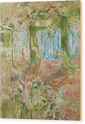 Undergrowth In Autumn Wood Print by Berthe Morisot