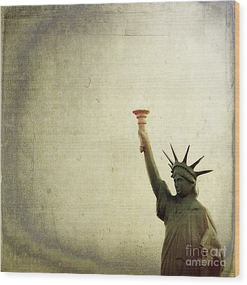 Understanding Liberty Wood Print by Trish Mistric