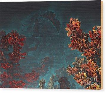Underwater 5 Wood Print by Bernard MICHEL