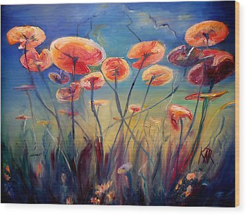 Underwater Ballet Wood Print by Art by Kar