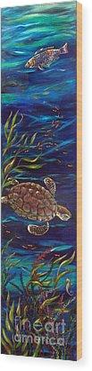 Underwater Ballet Wood Print by Linda Olsen