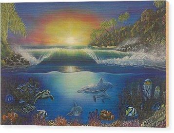 Underwater Paradise Wood Print