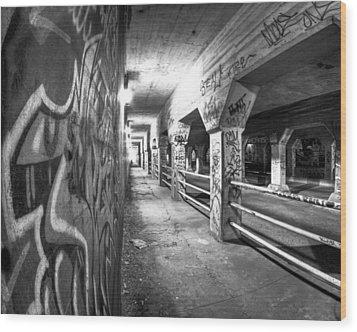 Underworld - The Krog Street Tunnel Wood Print by Mark E Tisdale