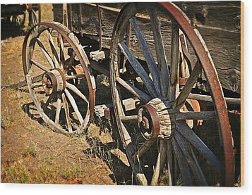 Unequal Wheels Wood Print by Marty Koch