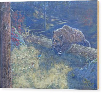 Unexpected Friends Wood Print by Charles Smith