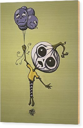 Unexpected Helium Wood Print by Sara Coolidge