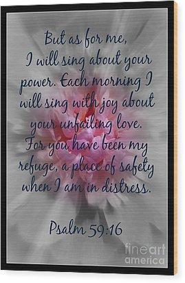 Unfailing Love Wood Print