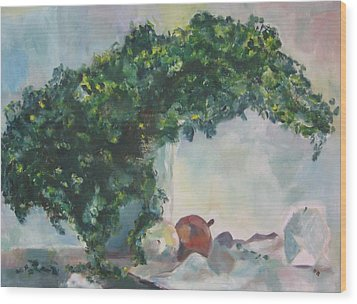 Wood Print featuring the painting Unfinished Apples by Diane Pape