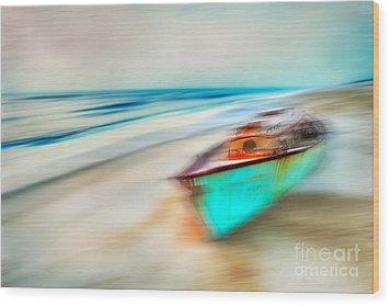 Unfortunate Tides - A Tranquil Moments Landscape Wood Print by Dan Carmichael