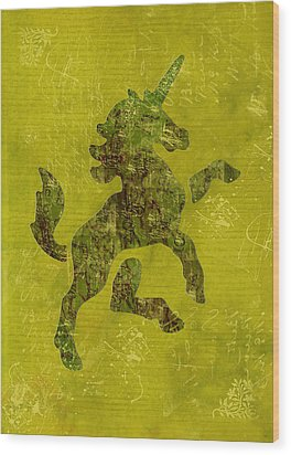 Unicorn Fresco Wood Print by Sarah Vernon