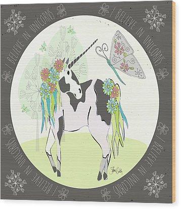 Unicorn II Wood Print by Shanni Welsh