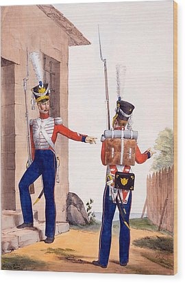 Uniform Of The 8th Infantry Regiment Wood Print by Charles Aubry