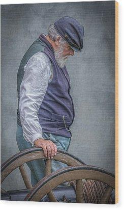 Union Civil War Soldier The Veteran  Wood Print by Randy Steele