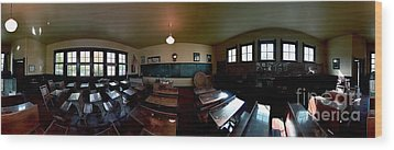 Wood Print featuring the photograph Union  Illinois One Room School House by Tom Jelen