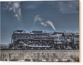 Wood Print featuring the digital art Union Pacific 844 by Photographic Art by Russel Ray Photos