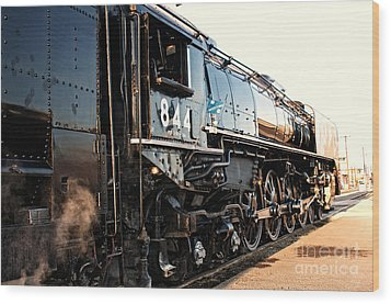 Wood Print featuring the photograph Union Pacific Engine #844 by Vinnie Oakes