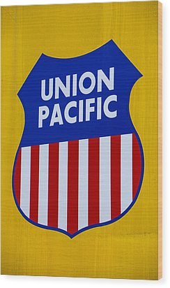 Union Pacific Raolroad Sign Wood Print by Garry Gay