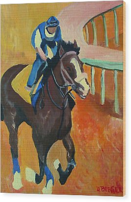 Wood Print featuring the painting Union Rags Kentucky Derby  by Darlene Berger
