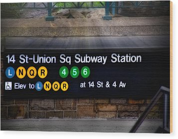 Union Square Subway Station Wood Print by Susan Candelario