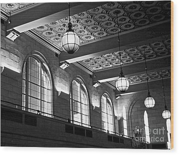 Union Station Balcony - New Haven Wood Print