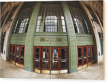 Union Station Exterior Wood Print by John Rizzuto