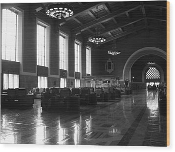 Union Station Los Angeles Wood Print by Jim McCullaugh