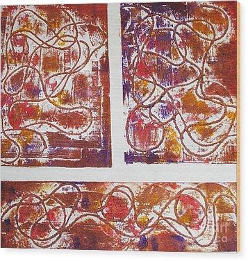 Unique Abstract II Wood Print by Yael VanGruber