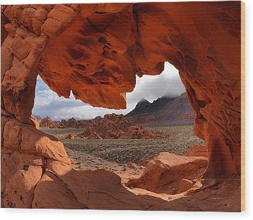 Unique Arch Nevada Wood Print by Leland D Howard