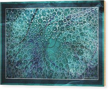 Wood Print featuring the photograph Unique Bubbles by Michaela Preston