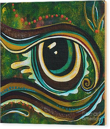 Unique Spirit Eye Wood Print