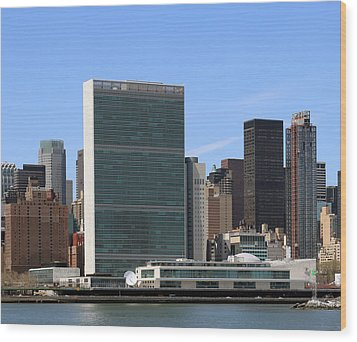 United Nations  Wood Print by Jim Poulos