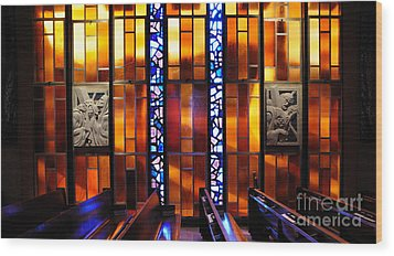 United States Air Force Academy Cadet Chapel Detail Wood Print by Vivian Christopher