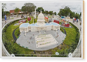United States Capital Building At Legoland Wood Print by Edward Fielding