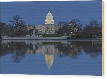 United States Capitol Building Wood Print by Susan Candelario
