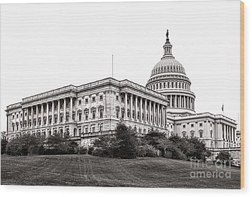 United States Capitol Senate Wing Wood Print by Olivier Le Queinec