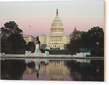 United States Capitol Washington Dc Wood Print