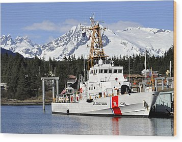 United States Coast Guard Cutter Liberty Wood Print by Cathy Mahnke
