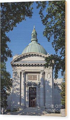 United States Naval Academy Chapel Wood Print by John Greim