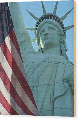 United States Of America Wood Print by Jewels Blake Hamrick