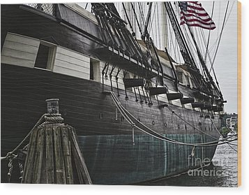 United States Ship Constellation Wood Print by George Oze