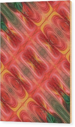 United Tiles Wood Print by Linda Phelps