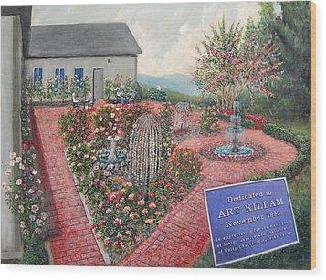 Unity Rose Garden  Wood Print by Kenneth Stockton