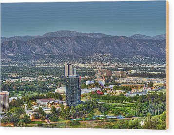 Universal City Warner Bros Studios Clear Day Wood Print by David Zanzinger