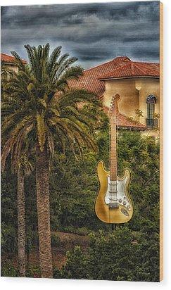 Universal Guitar Wood Print