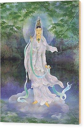 Universal Kuan Yin Wood Print by Lanjee Chee