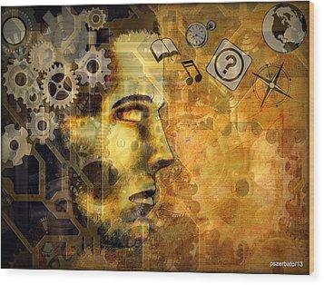 Universal Mechanics Wood Print by Paulo Zerbato