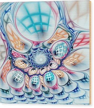 Universe In A Bag Wood Print by Anastasiya Malakhova