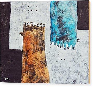 Universi No. 2 Wood Print by Mark M  Mellon