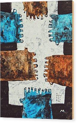 Universi No. 3 Wood Print by Mark M  Mellon