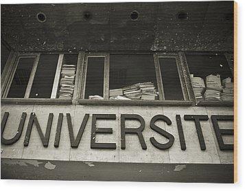 Universite Wood Print by Marta Grabska-Press